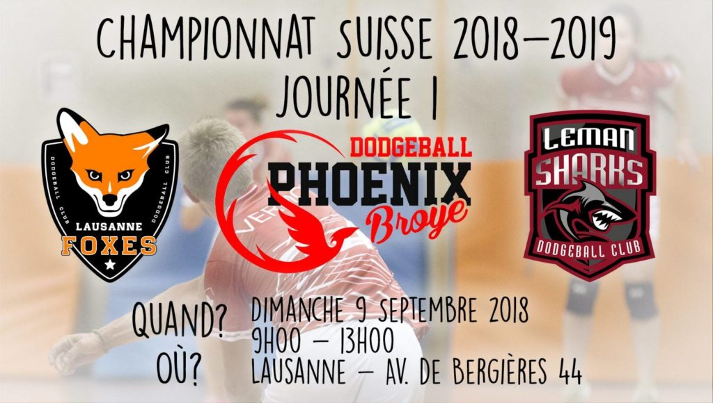 championnat suisse dodgeball 1ere journee