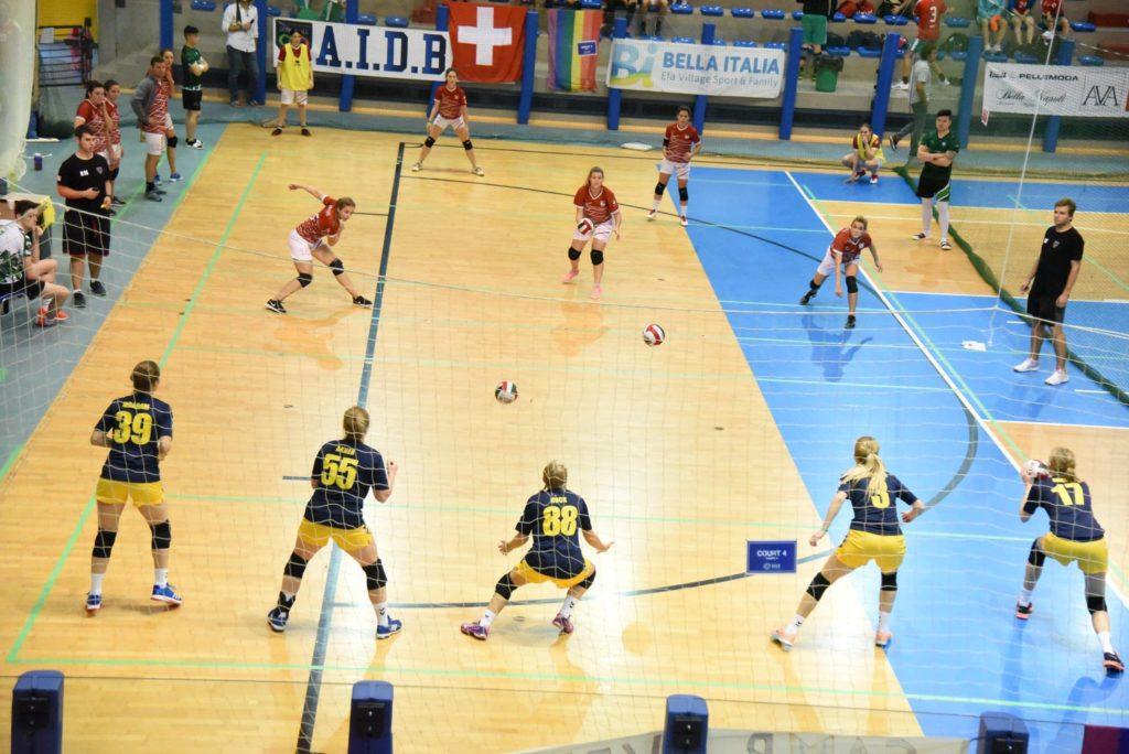 Dodgeball Euro 2018 Match Suisse Femme