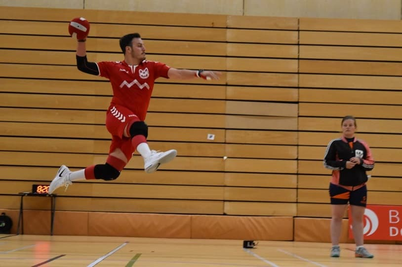 Saut de l'ange au dodgeball suisse