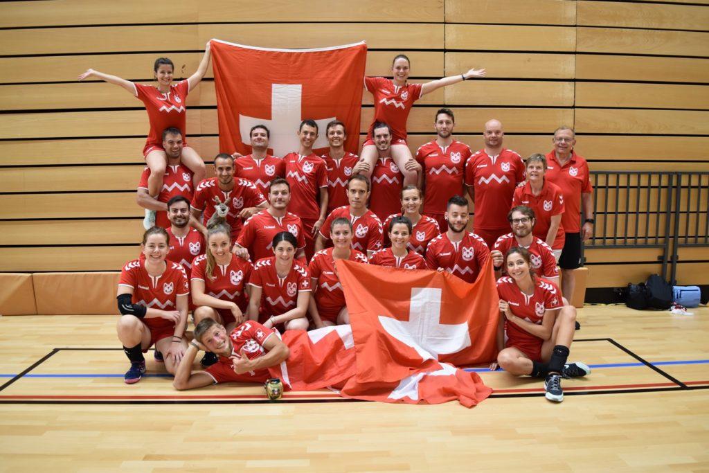 Euro dodgeball 2019 équipe Suisse