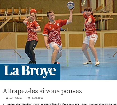 Joueur de dodgeball Broye